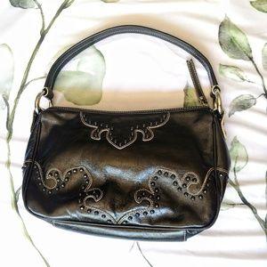 🖤Isabella Fiore | Vintage Black Leather Handbag
